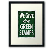 Green Stamps Framed Print