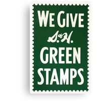 Green Stamps Canvas Print