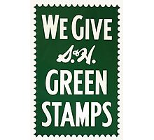 Green Stamps Photographic Print