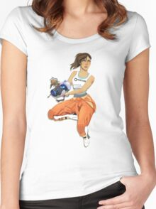 Chell and Potato GLADoS Women's Fitted Scoop T-Shirt