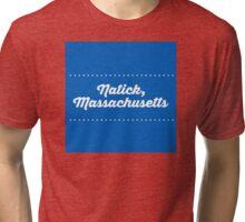 Natick Massachusetts Tri-blend T-Shirt