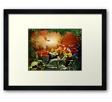 ~ Actually, the lizard-look is not that bad ~ Framed Print