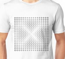 background abstract motion effect geometric shapes Unisex T-Shirt