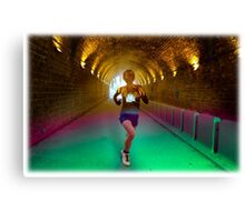 Running is better than drugs Canvas Print
