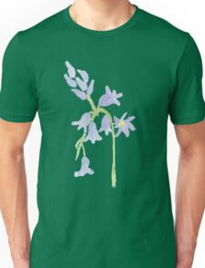 Bluebell water color painting Unisex T-Shirt