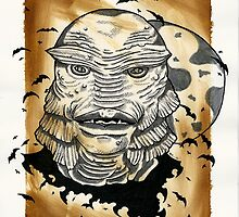 Universal Horror Monsters: The Creature From The Black Lagoon by starkgravingmad