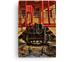 Caboose On The Loose Canvas Print
