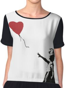 Banksy Heart - ONE:Print Chiffon Top