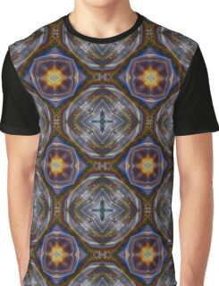 Yellow Blue Abstract Super Nova Psychedelic Graphic T-Shirt
