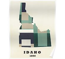 Idaho state map Poster