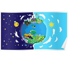 Paper Mario World Mashup Poster Poster