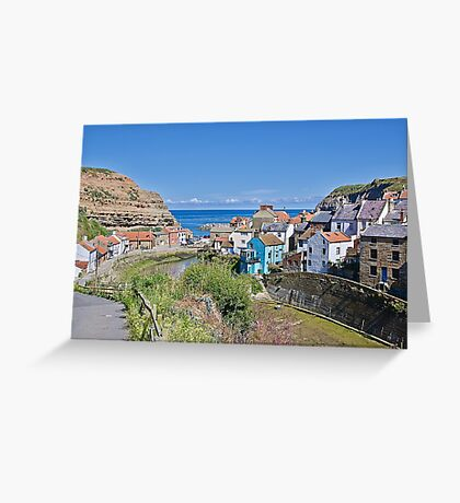 Fishing Village. Greeting Card