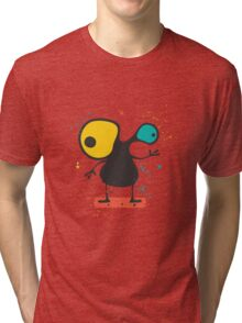 Cute Monster with emotions  Tri-blend T-Shirt
