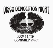 Disco Demolition Night - Black Kids Clothes