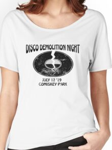 Disco Demolition Night - Black Women's Relaxed Fit T-Shirt