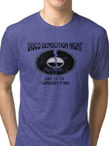 Disco Demolition Night - Black Tri-blend T-Shirt