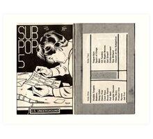 subpop Art Print