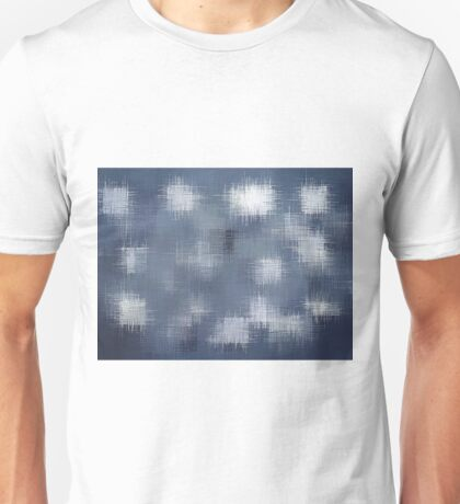 blue grey black and white painting abstract background Unisex T-Shirt