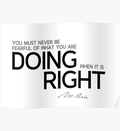 doing right - marie curie Poster