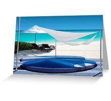 Luxury Beach Resort in the Maldives - The perfect Honeymoon Greeting Card
