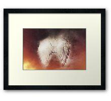 burning wings Framed Print