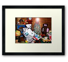 Christmas at Rupert's Framed Print