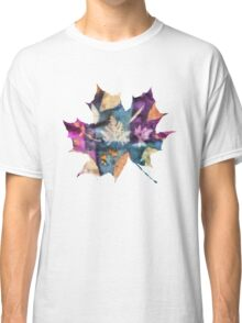 Colorful fallen leaves abstract Classic T-Shirt
