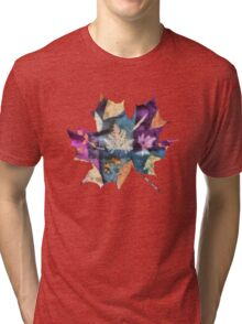 Colorful fallen leaves abstract Tri-blend T-Shirt