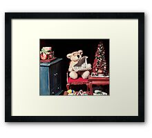Christmas Morning at Papa Bear's Framed Print