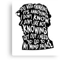 Sherlock's mind Canvas Print