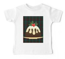 plaid christmas puddings  Baby Tee