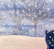 Winter Reindeer Sticker
