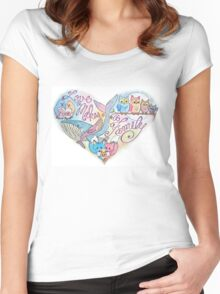 Love Makes a Family Women's Fitted Scoop T-Shirt