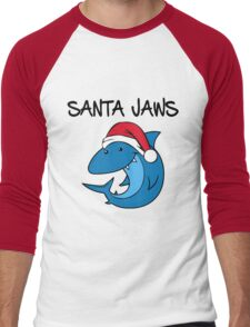 Santa Jaws Men's Baseball ¾ T-Shirt