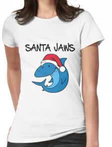 Santa Jaws Womens Fitted T-Shirt