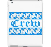 flagge blau weiß bayern official crew member party saufen team oktoberfest logo symbol cool design  iPad Case/Skin
