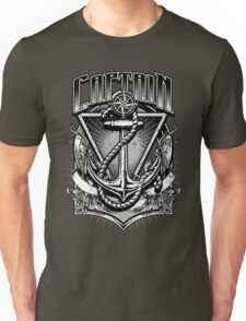 Vintage Nautical Captain with Anchor and Rope Unisex T-Shirt