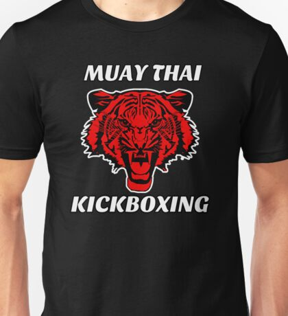 Muay thai kickboxing red tiger  Unisex T-Shirt