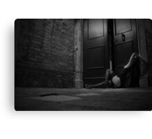 night wanderer - black and white Canvas Print