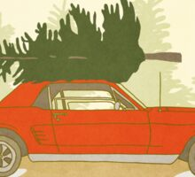 Mustang Holiday - Christmas Tree Farm Painting Sticker