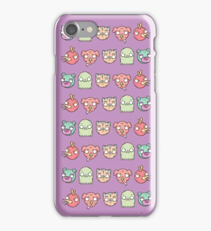 Animal Line Up iPhone Case/Skin
