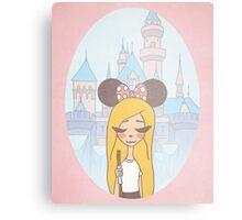 Disneyland Girl - Disney World Girl - Disney Girl  Metal Print
