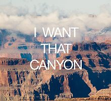 I Want That Canyon by robertandjoey
