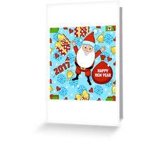 funny Santa Claus  Greeting Card