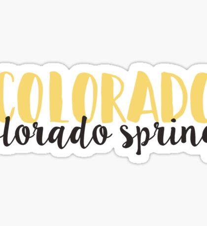 Colorado Colorado Springs Sticker