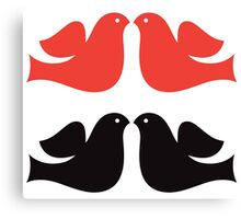 Simple Dove collection : red and black Canvas Print