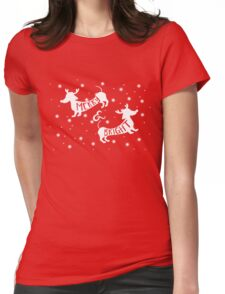 Merry & Bright Christmas Womens Fitted T-Shirt