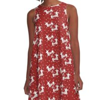 Merry & Bright Christmas A-Line Dress