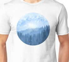 Here Comes The Sun - Misty Forest - Blue Unisex T-Shirt