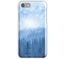 Here Comes The Sun - Misty Forest - Blue iPhone Case/Skin
